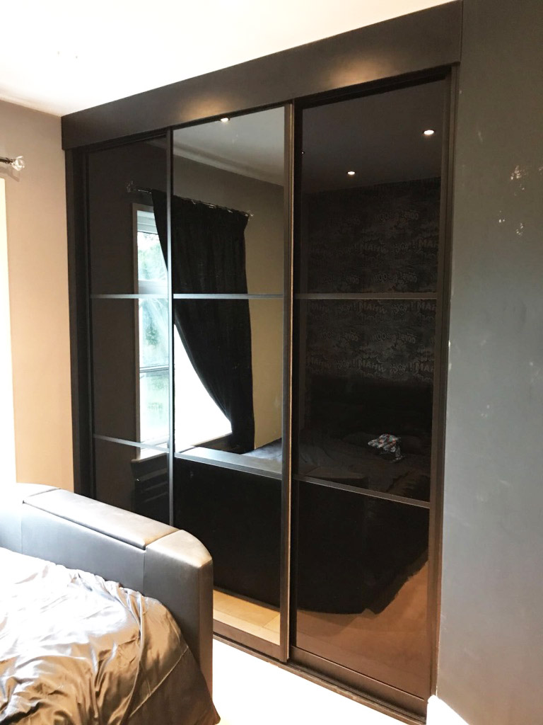 fitted black wardrobe