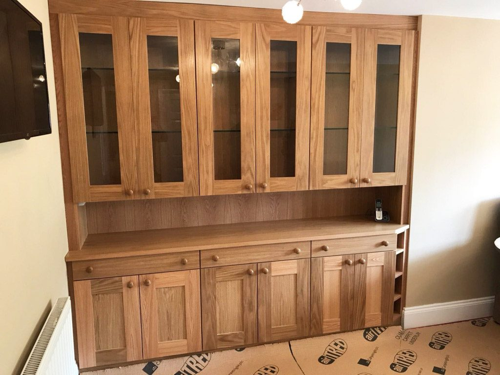 wooden fitted sideboard