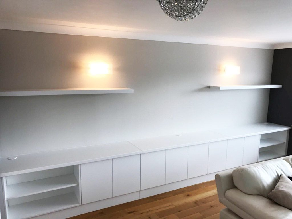 white fitted sideboard