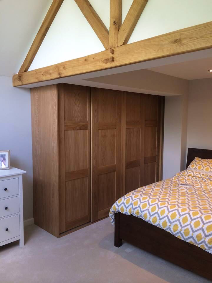 wooden fitted wardrobe