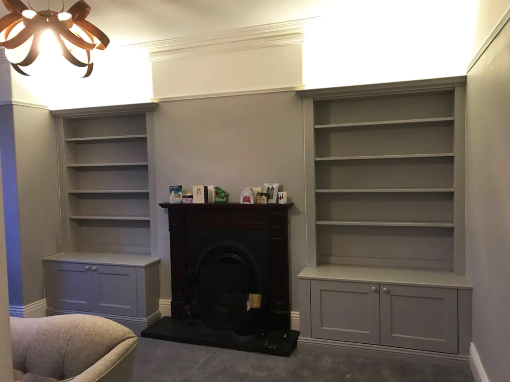 traditional bespoke alcove units