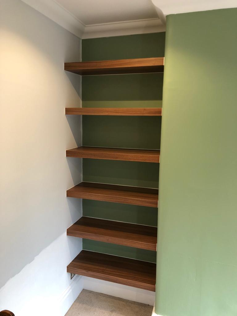 made to measure alcove shelving